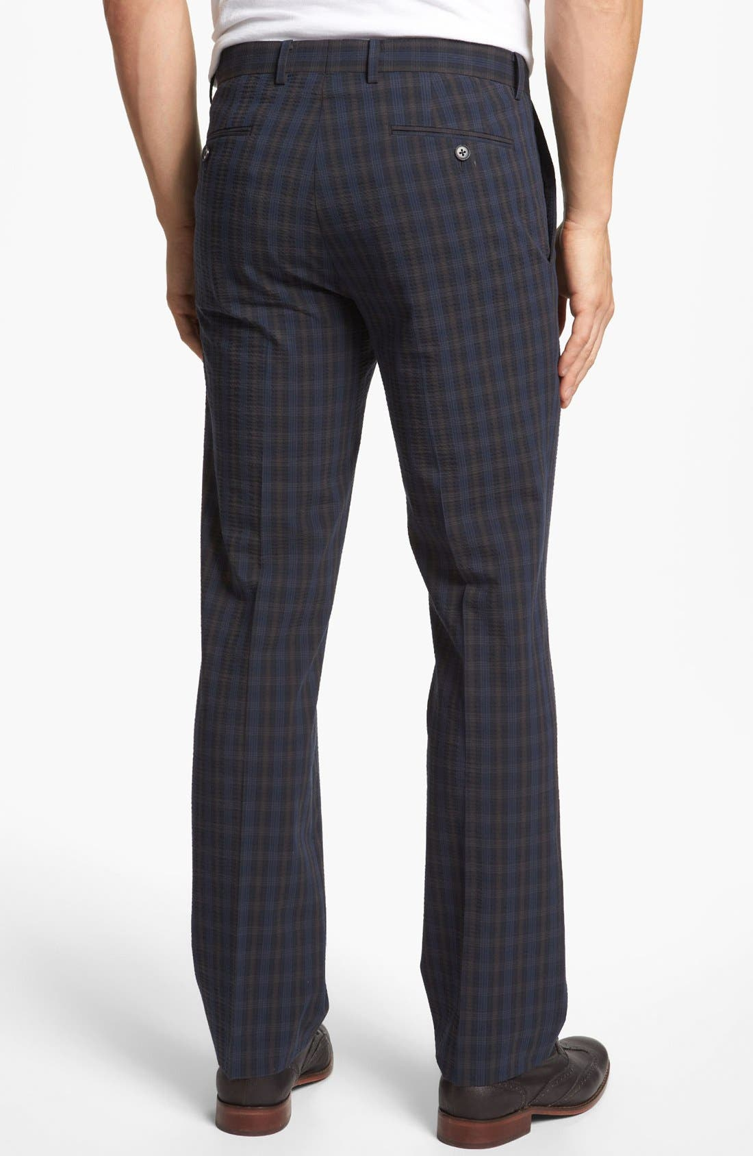 Alternate Image 2  - John Varvatos Star USA Red Label 'Petro' Seersucker Plaid Trousers