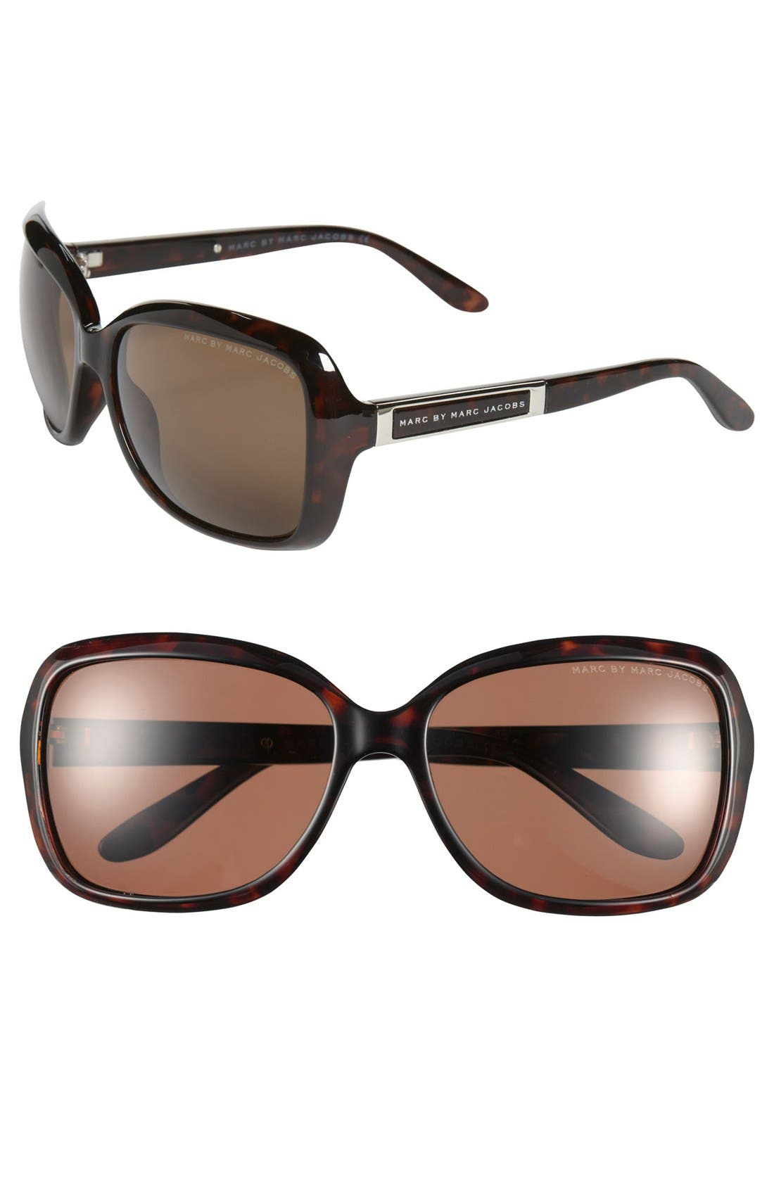 Main Image - MARC BY MARC JACOBS 58mm Polarized Sunglasses