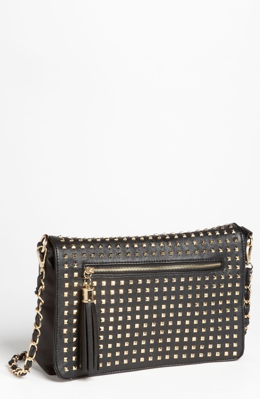 Alternate Image 1 Selected - NB Handbags Studded Convertible Crossbody (Juniors)