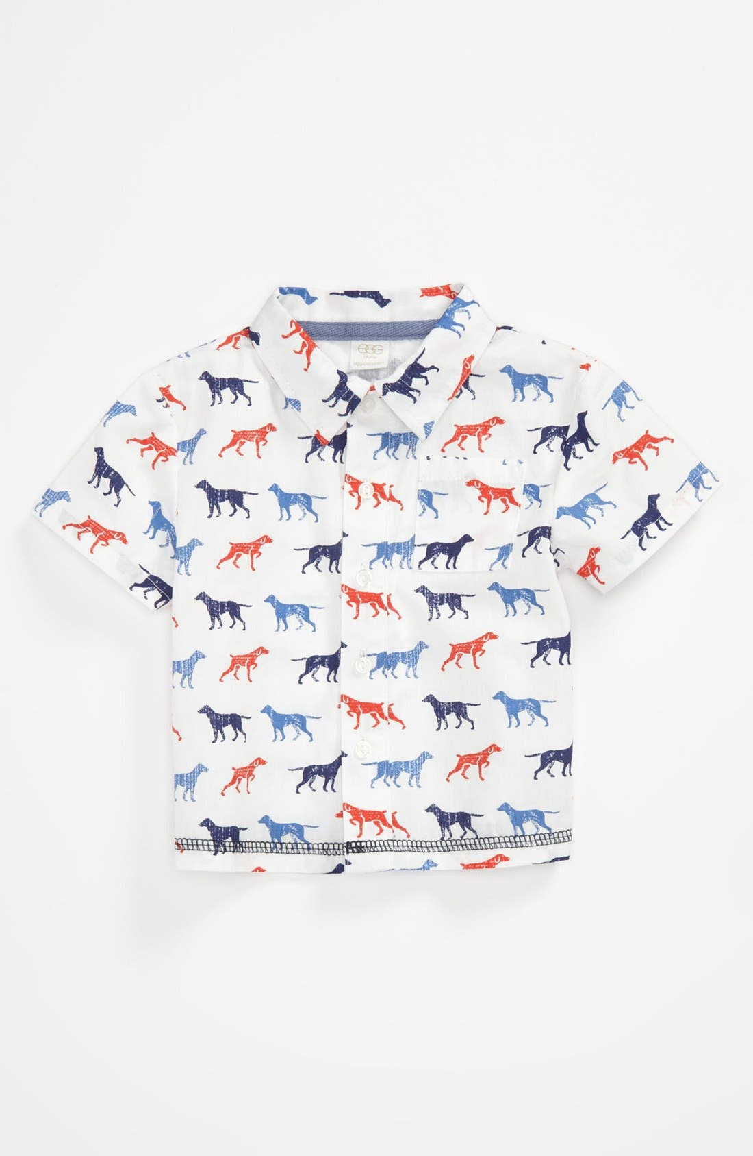 Woven Shirt,                         Main,                         color, Orange