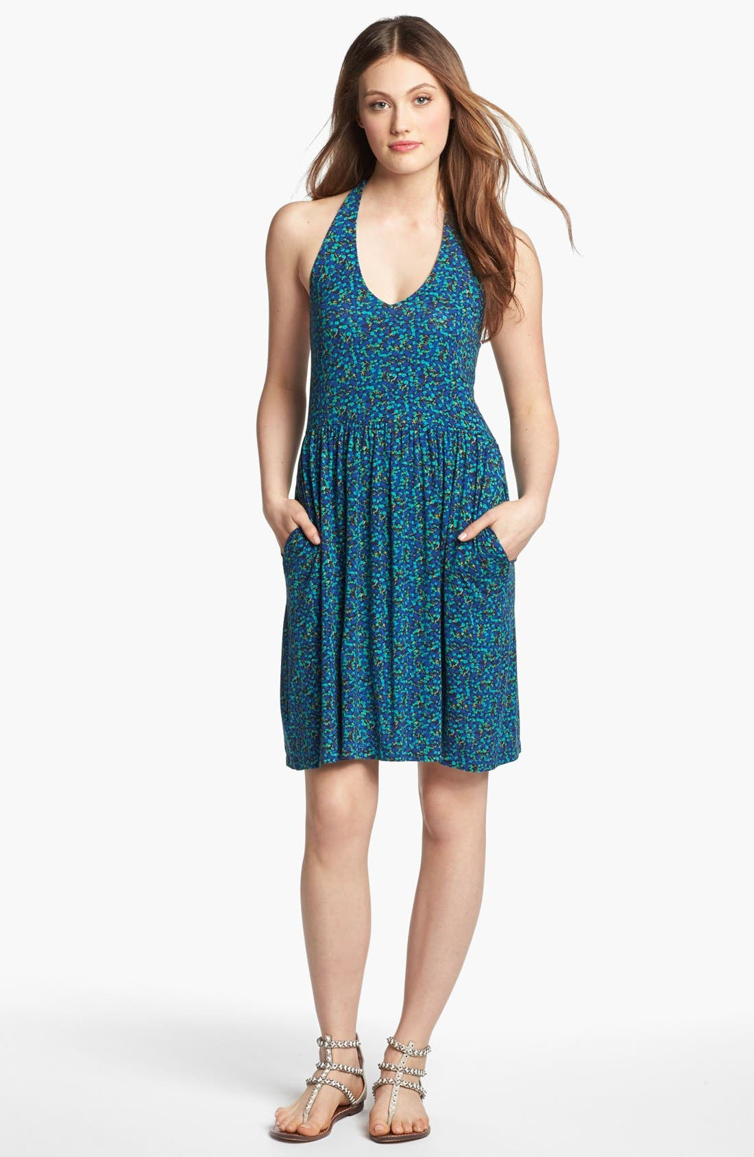 Alternate Image 1 Selected - Caslon® Knit Halter Dress