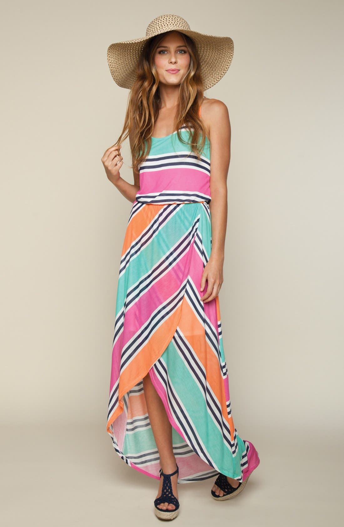 Alternate Image 4  - Splendid Stripe Faux Wrap Maxi Dress