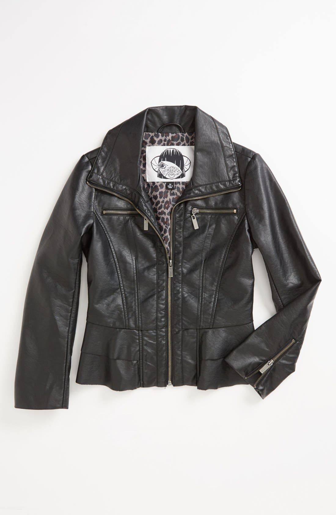 Alternate Image 1 Selected - Sugarfly Moto Jacket (Big Girls)