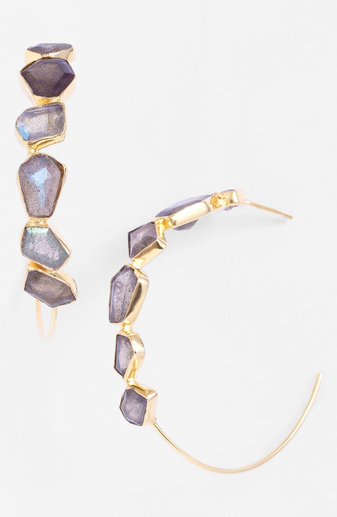 Alternate Image 1 Selected - NuNu Designs Hoop Earrings