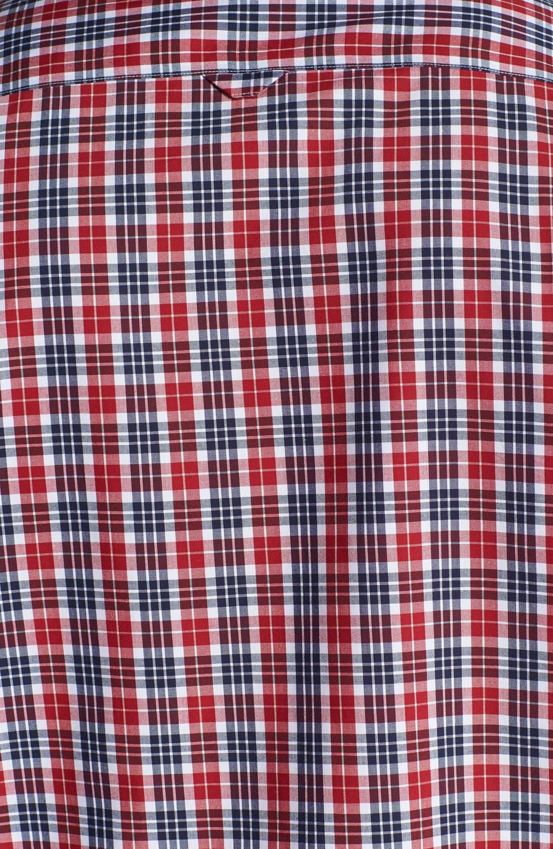 Alternate Image 3  - Nordstrom Smartcare™ Short Sleeve Poplin Sport Shirt