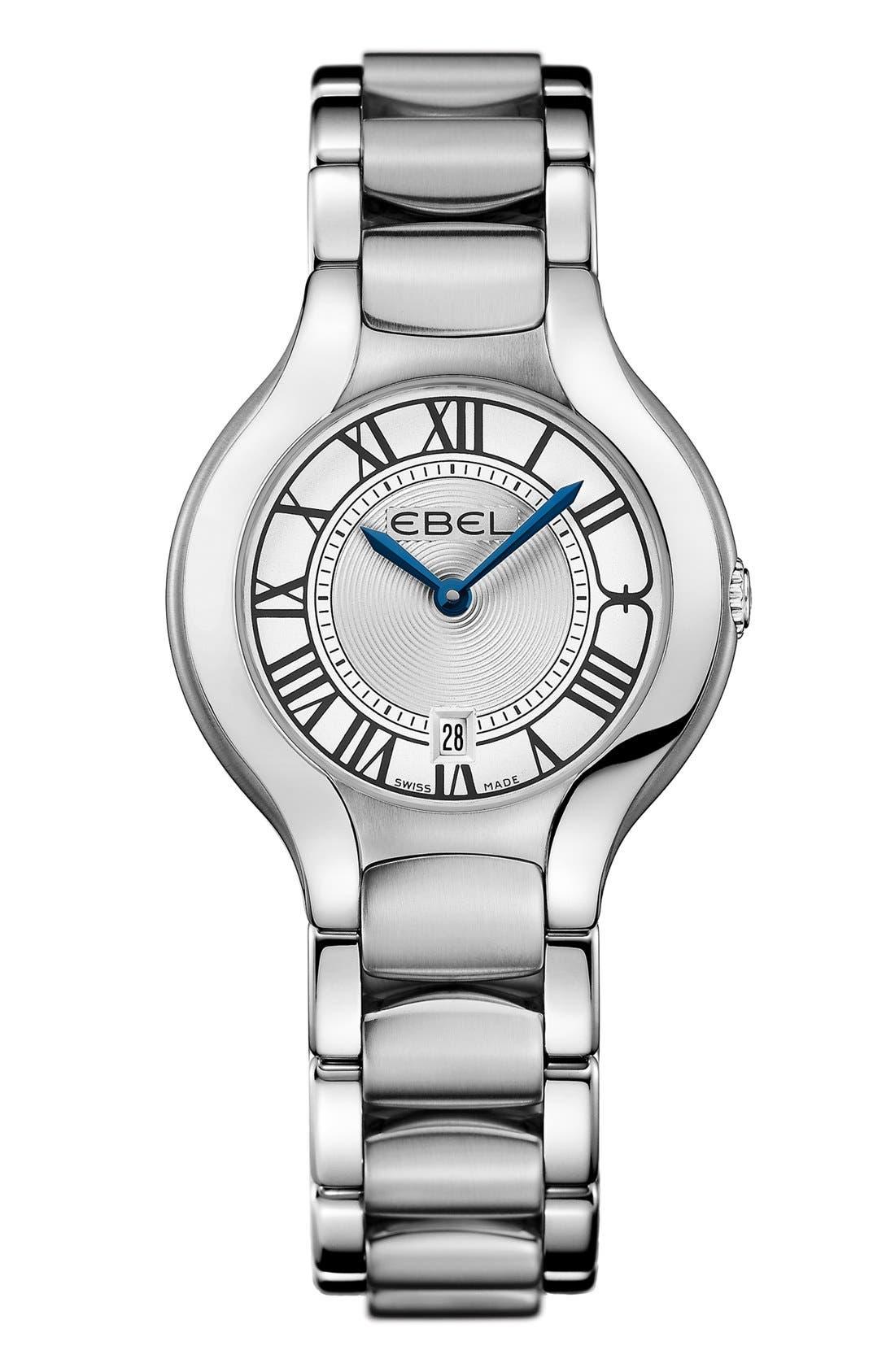 Alternate Image 1 Selected - EBEL 'Beluga' Bracelet Watch, 30mm