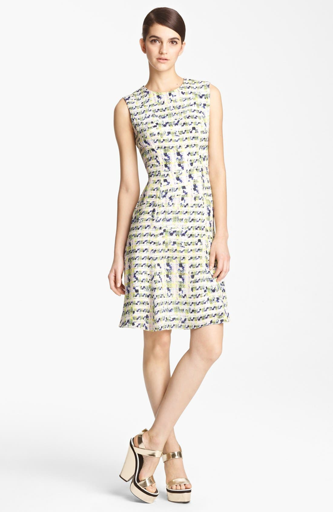 Main Image - Erdem Trompe l'Oeil Full Skirt Dress