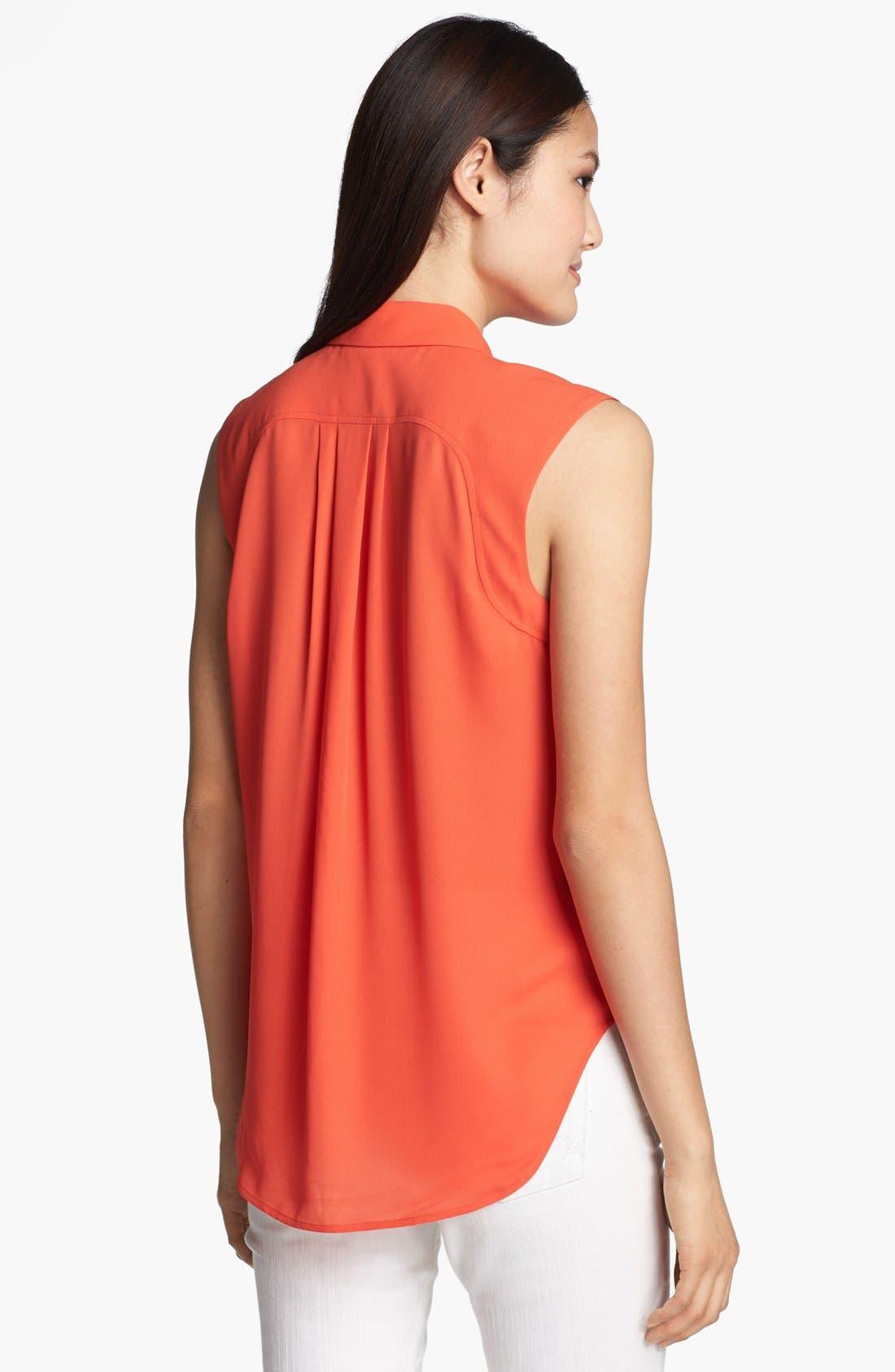 Alternate Image 2  - Halogen® Sleeveless Shirt (Regular & Petite)