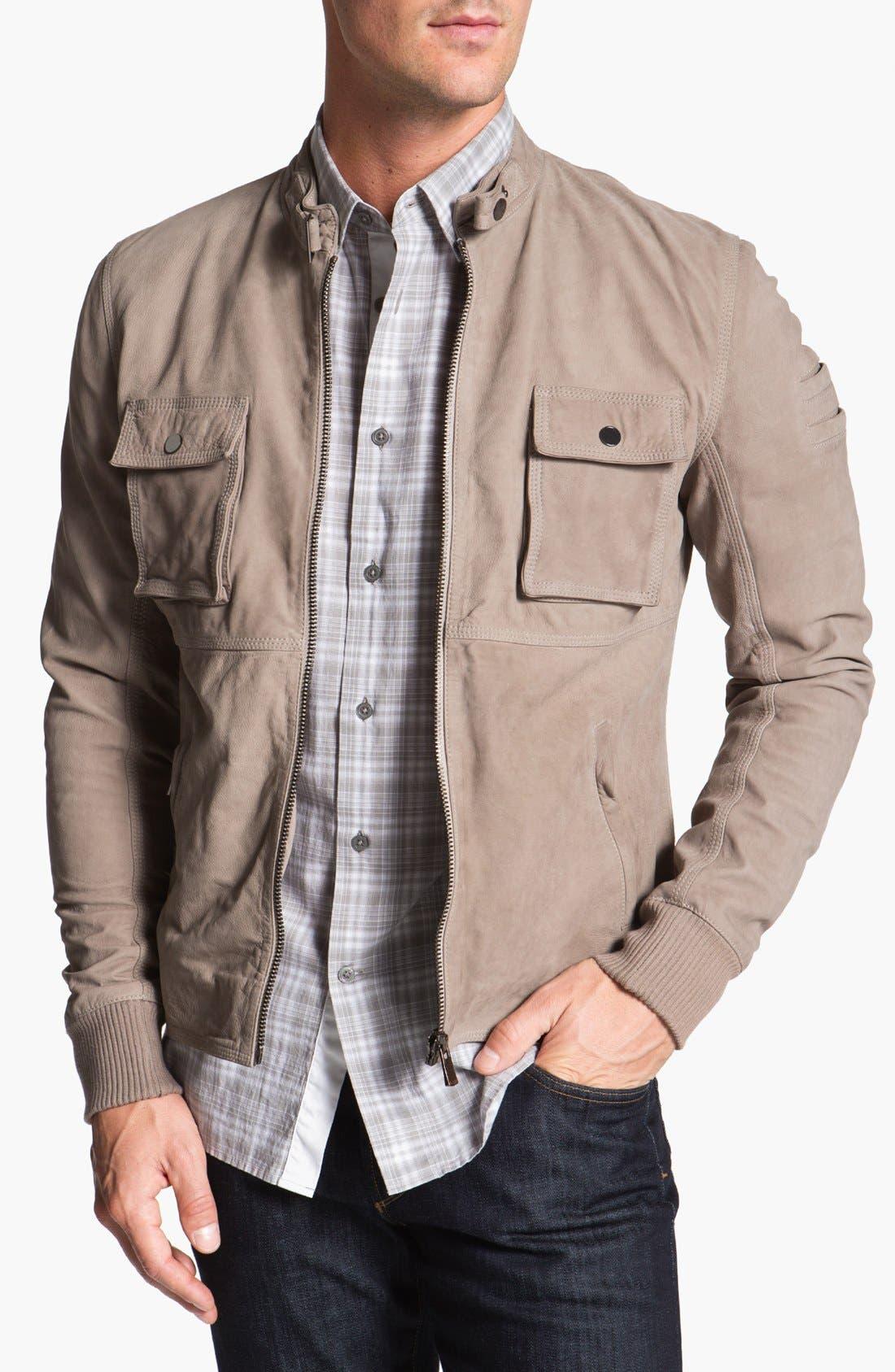 Main Image - La Marque Nubuck Leather Biker Jacket