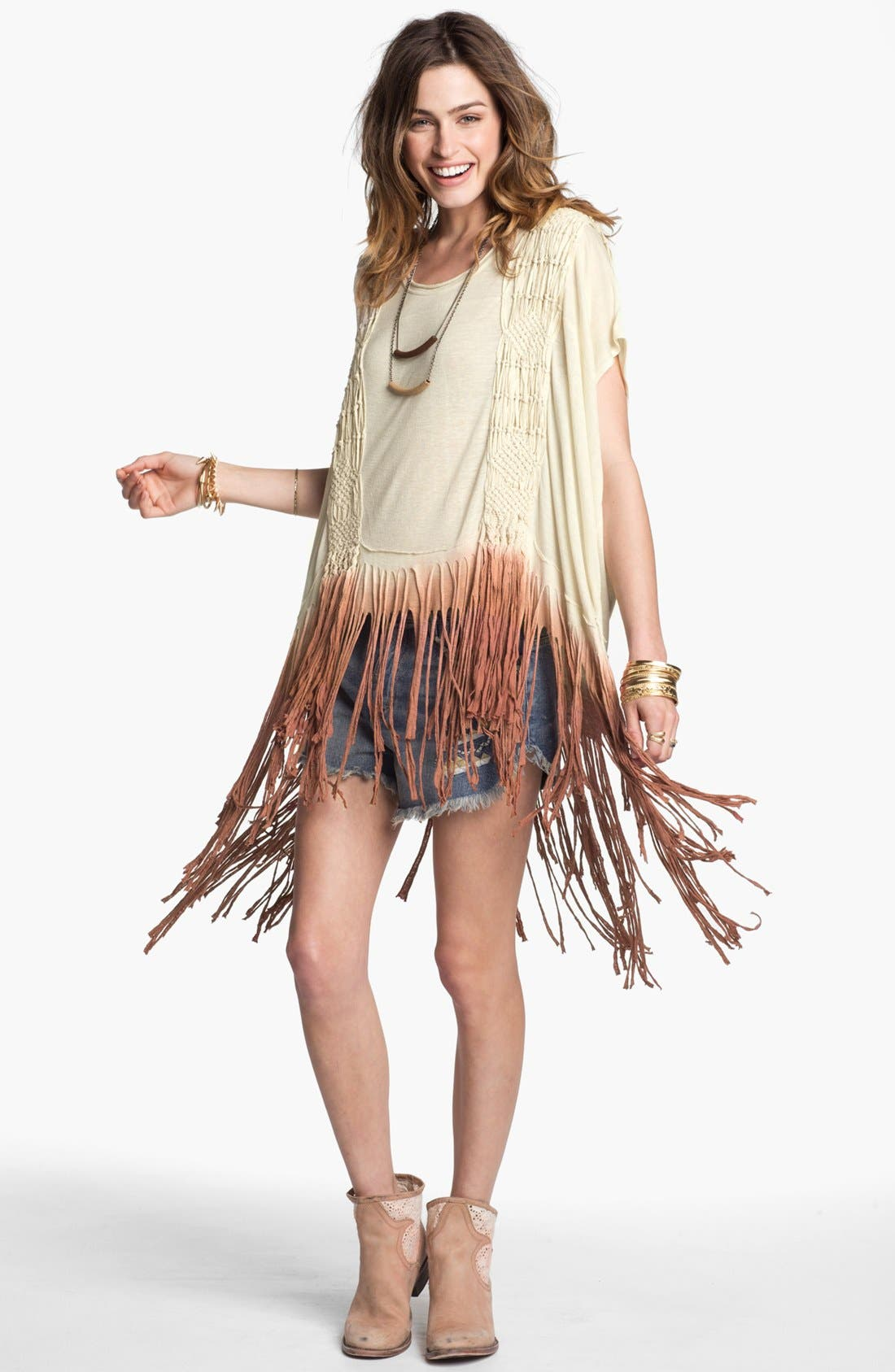 Alternate Image 1 Selected - Free People 'Rough Rider' Ombré Tee