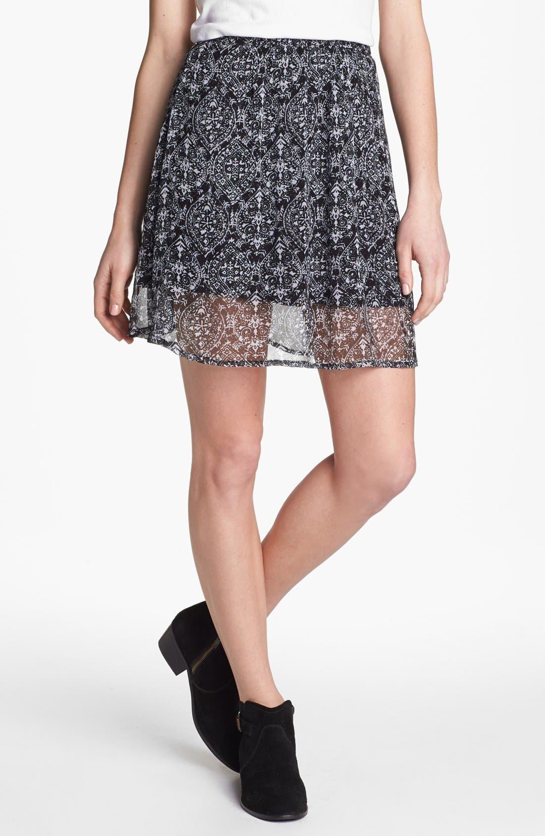 Alternate Image 1 Selected - Ella Moss 'Cisco' Print Skirt