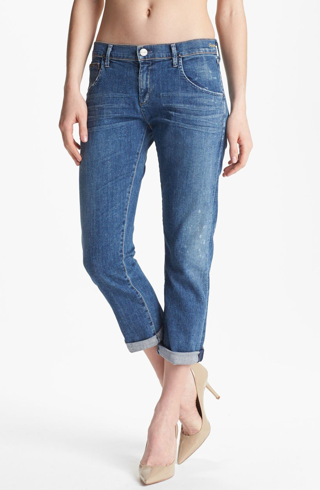 Alternate Image 1 Selected - Goldsign 'Ruby' Crop Relaxed Fit Jeans (His Jean)