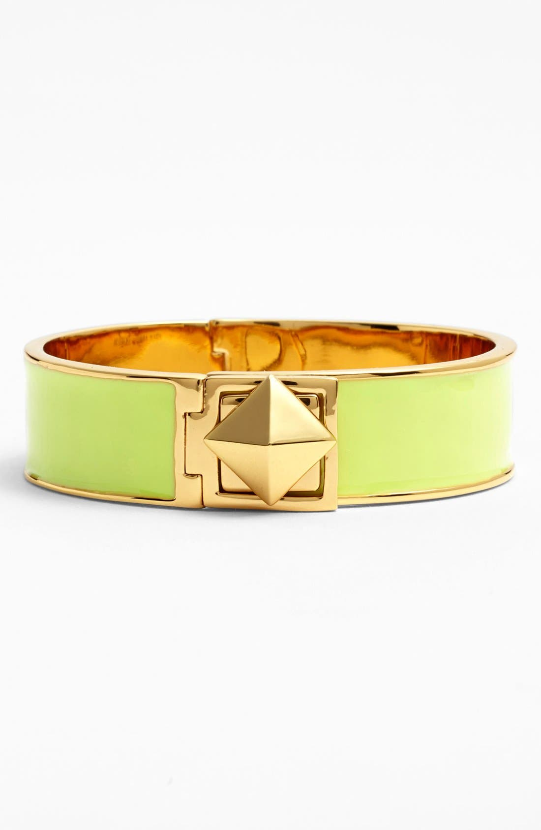 Main Image - kate spade new york 'locked in' stud hinged bangle