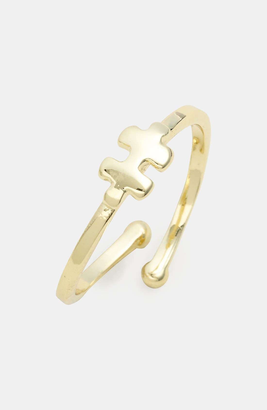 Alternate Image 1 Selected - Ariella Collection Puzzle Piece Ring (Nordstrom Exclusive)