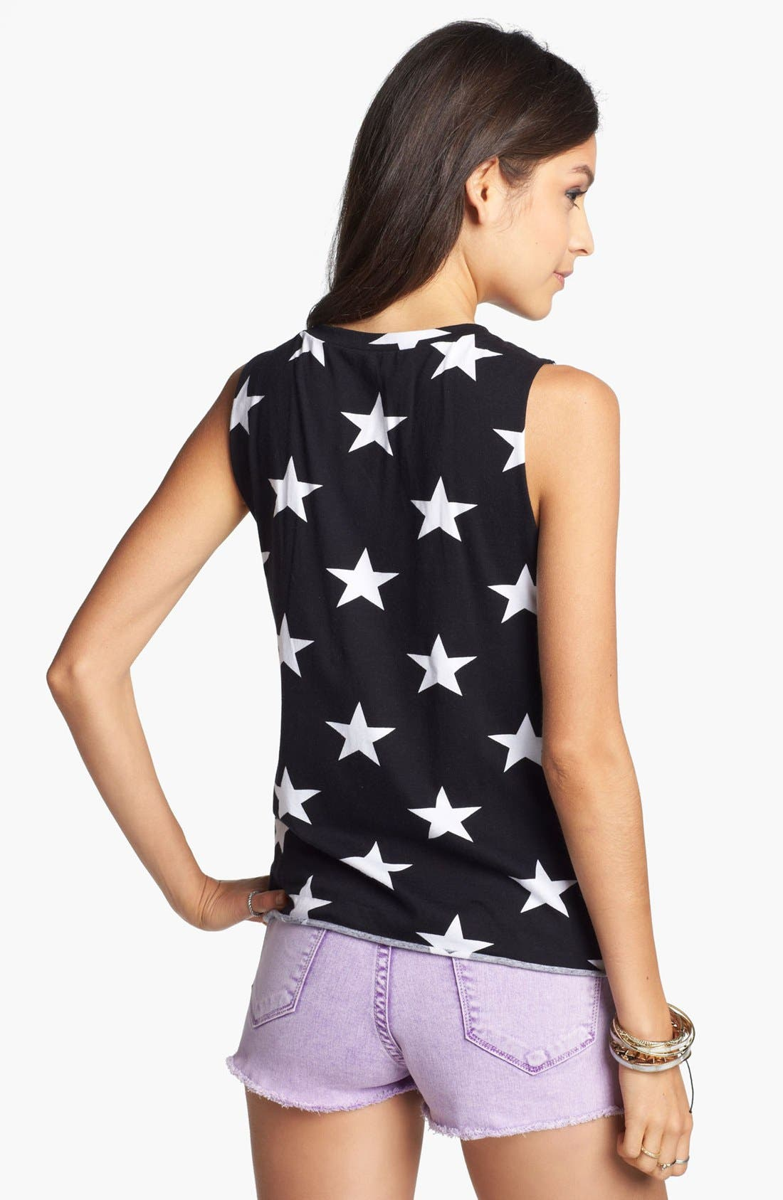 Alternate Image 2  - Soprano Star Shredded Tank (Juniors)