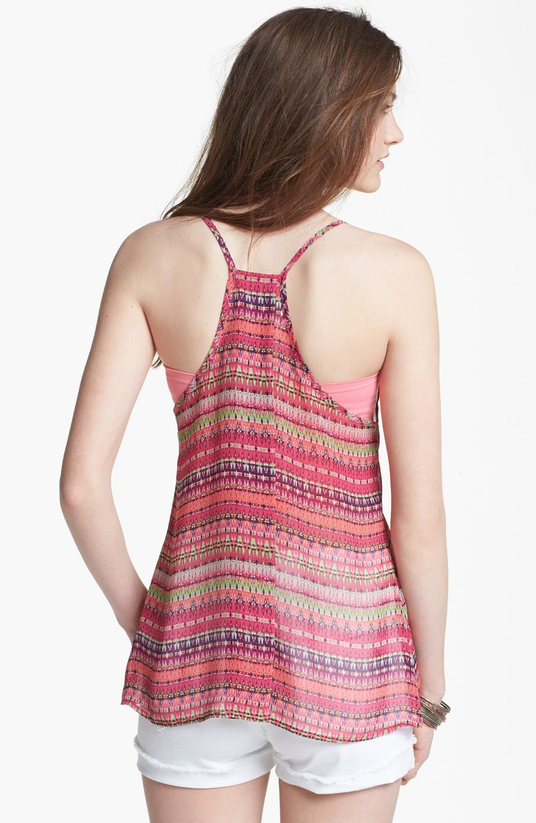 Alternate Image 2  - Liberty Love Racerback Camisole (Juniors) (Online Only)