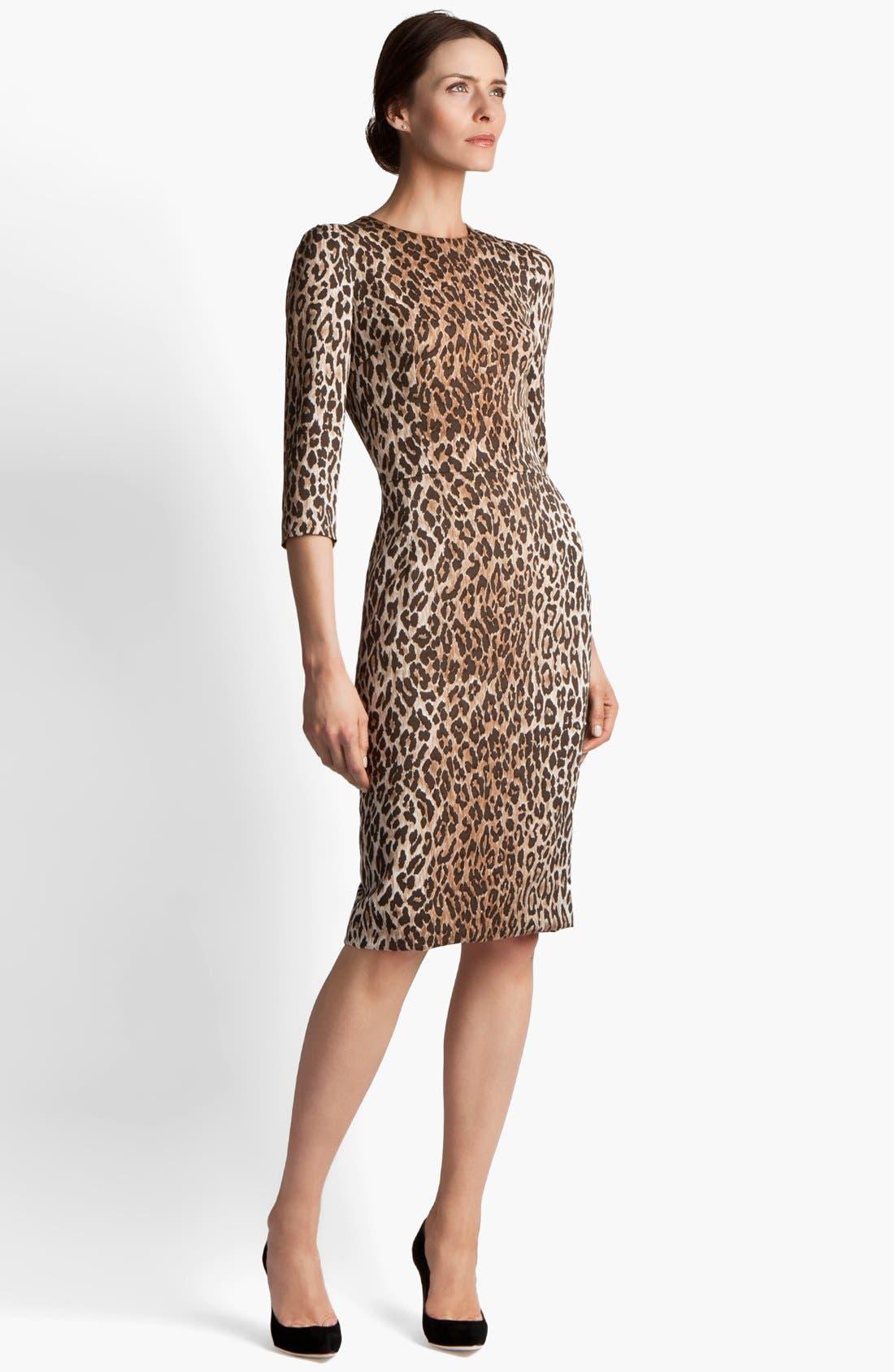 Main Image - Dolce&Gabbana Leopard Print Dress