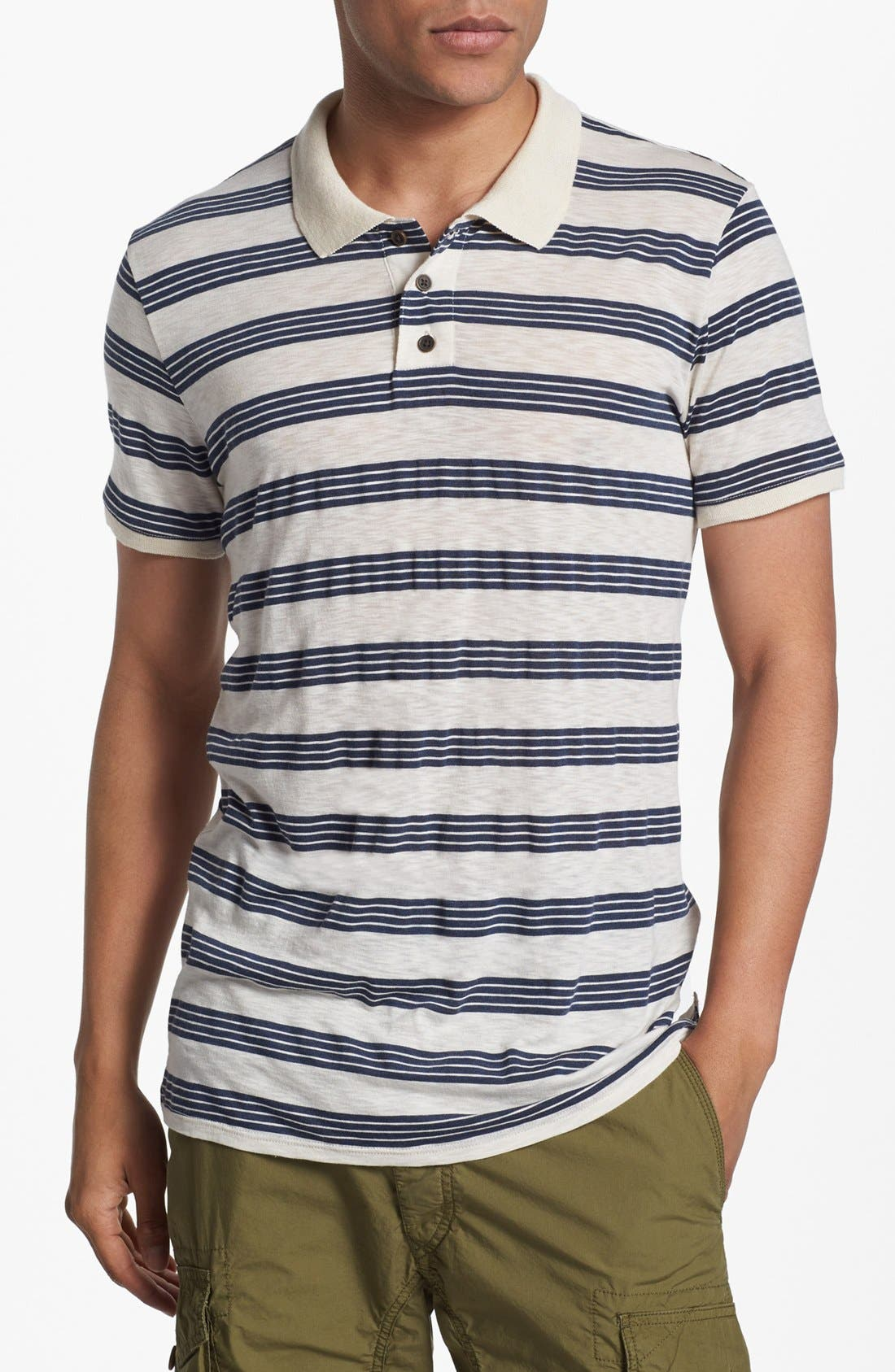 Alternate Image 1 Selected - 7 For All Mankind® Slub Stripe Jersey Polo