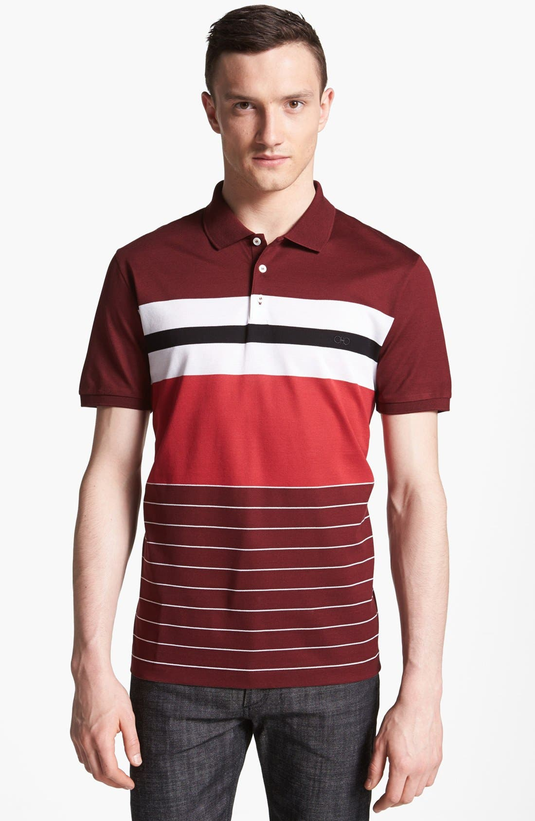 Alternate Image 1 Selected - Salvatore Ferragamo Stripe Polo