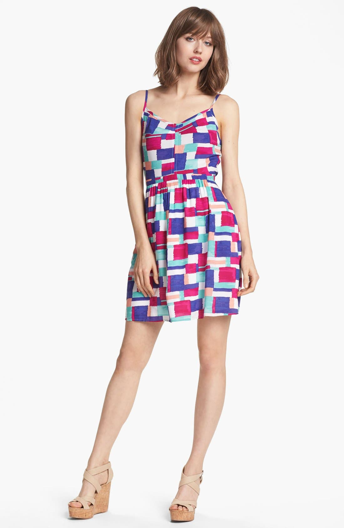 Main Image - Splendid 'Painted Patchwork' Print Dress