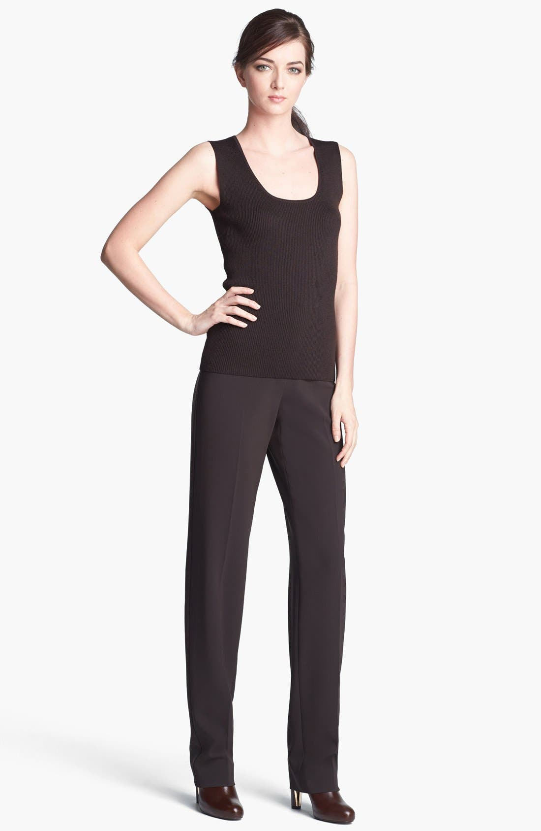 Alternate Image 2  - St. John Collection 'Diana' Straight Leg Crepe Marocain Pants