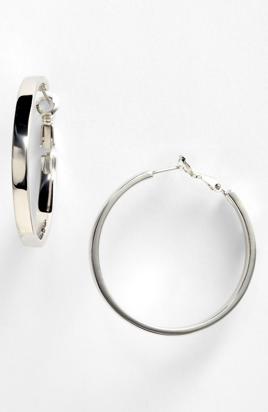 Main Image - kate spade new york 'bar none' hoop earrings