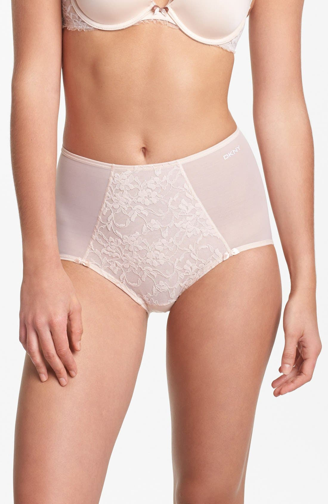 Main Image - DKNY 'Underslimmers Signature Lace' Shaping Briefs (Online Only)