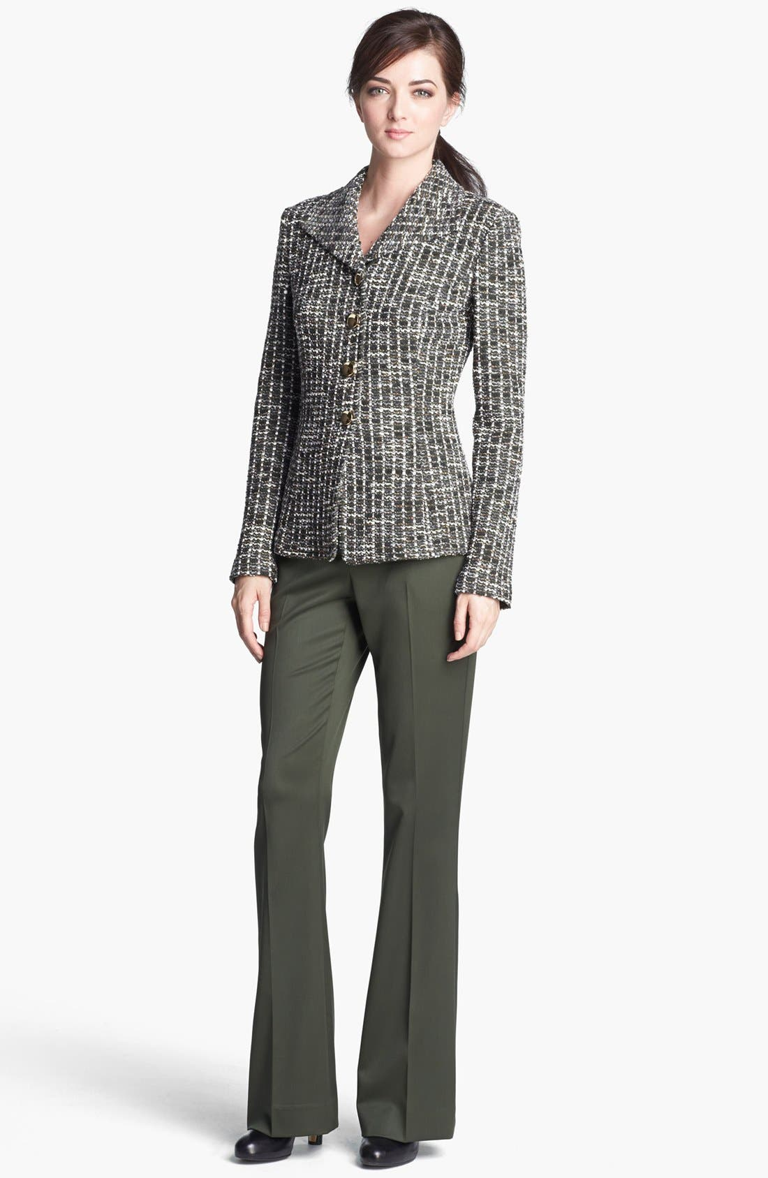 Alternate Image 2  - St. John Collection Loden Check Tweed Knit Jacket