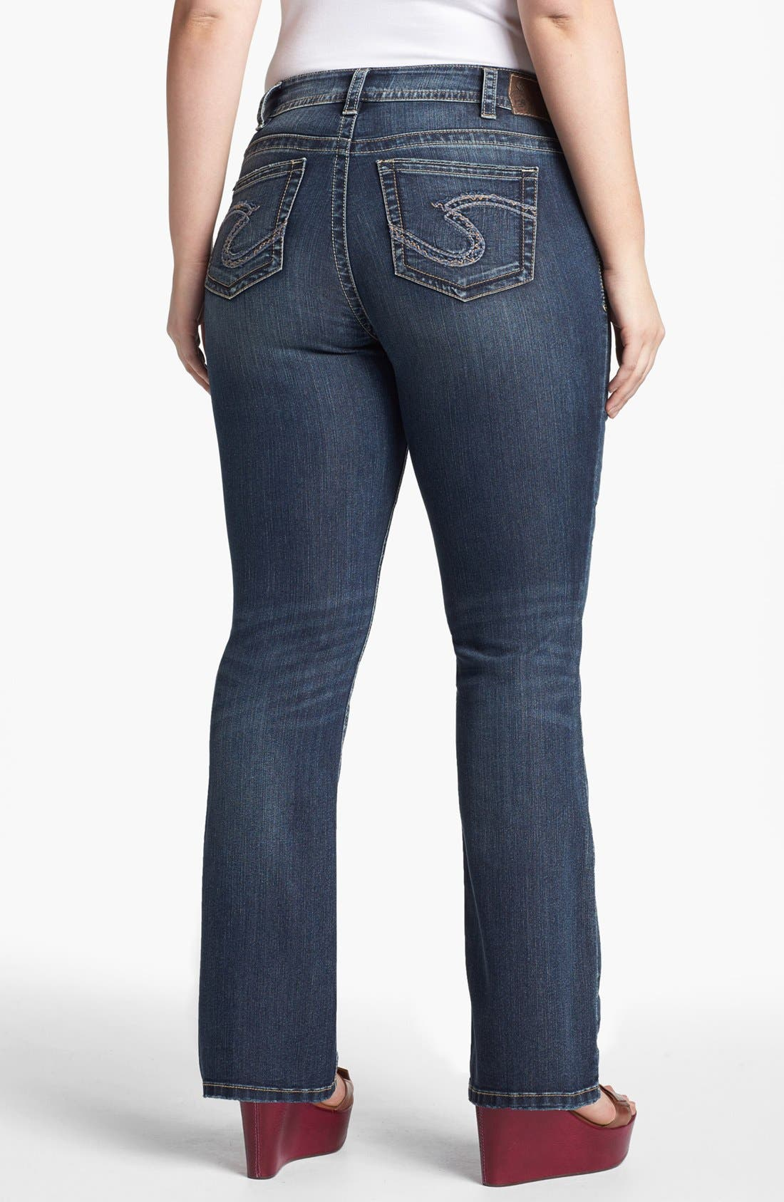 Alternate Image 2  - Silver Jeans Co. 'Suki' Bootcut Jeans (Juniors Plus)