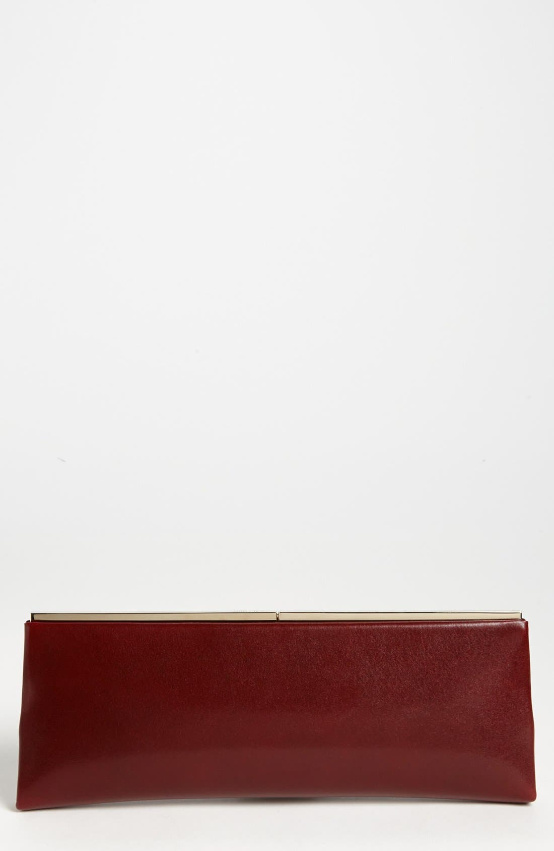 Alternate Image 1 Selected - Jimmy Choo 'Ciggy' Leather Clutch