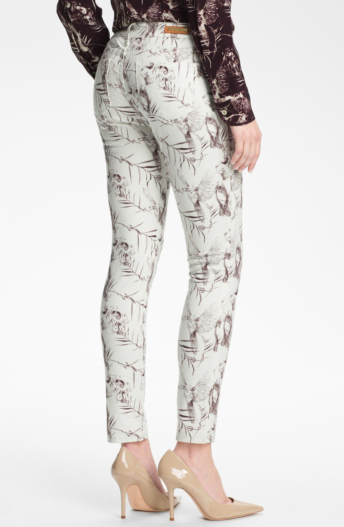 Alternate Image 2  - Rachel Roy Skinny Stretch Ankle Jeans (White Multi)