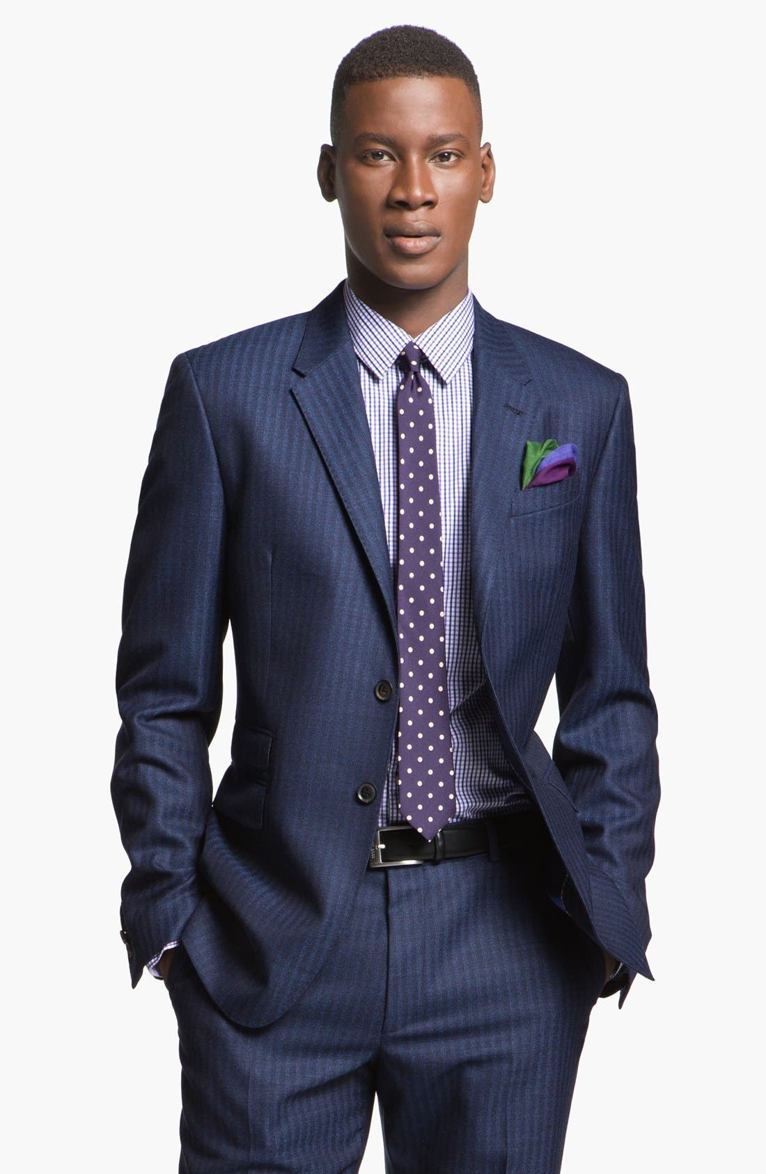 Alternate Image 4  - Paul Smith London Slim Fit Stripe Wool Suit