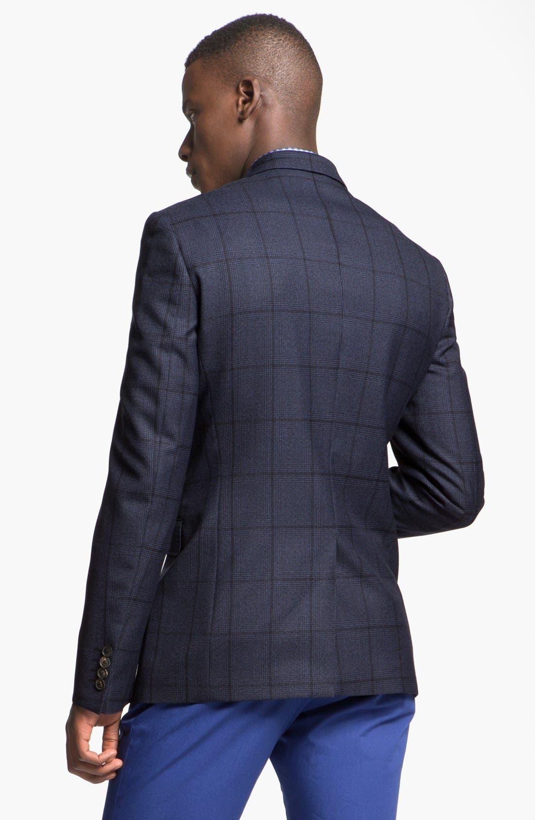 Alternate Image 2  - Paul Smith London Slim Fit Windowpane Plaid Sportcoat