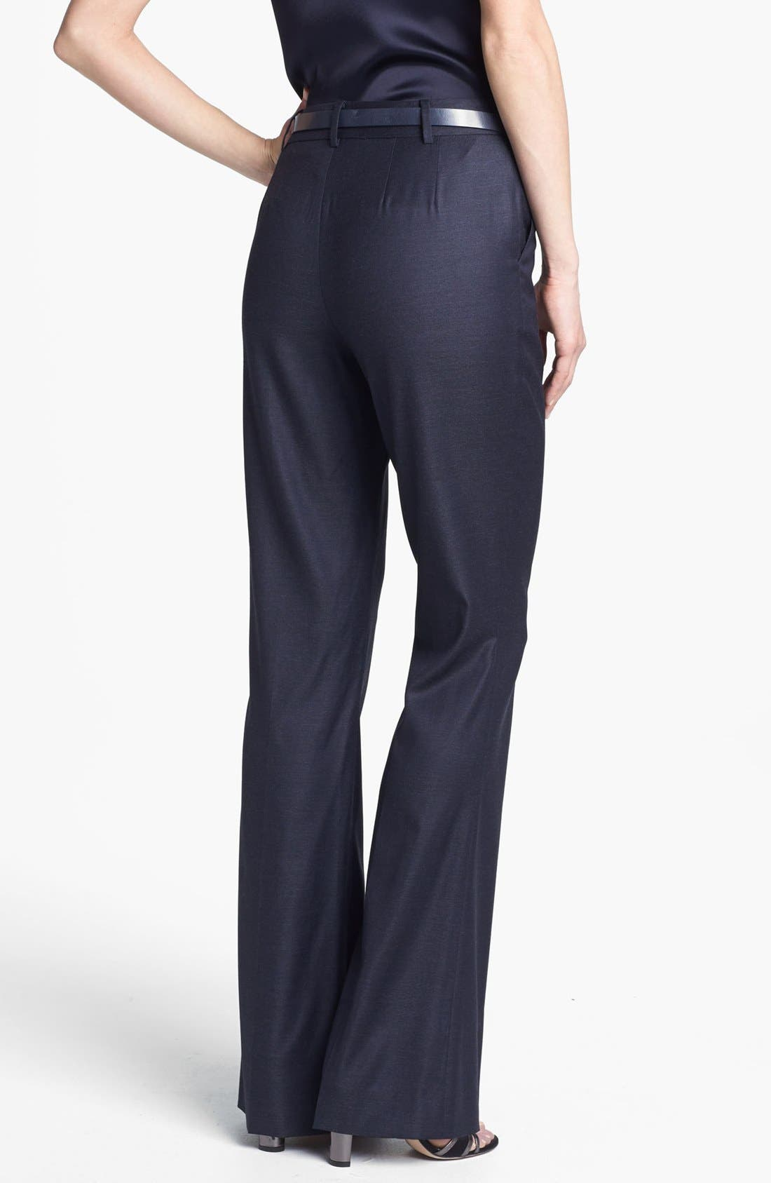 Alternate Image 2  - St. John Collection Narrow Bootcut Shimmer Twill Pants
