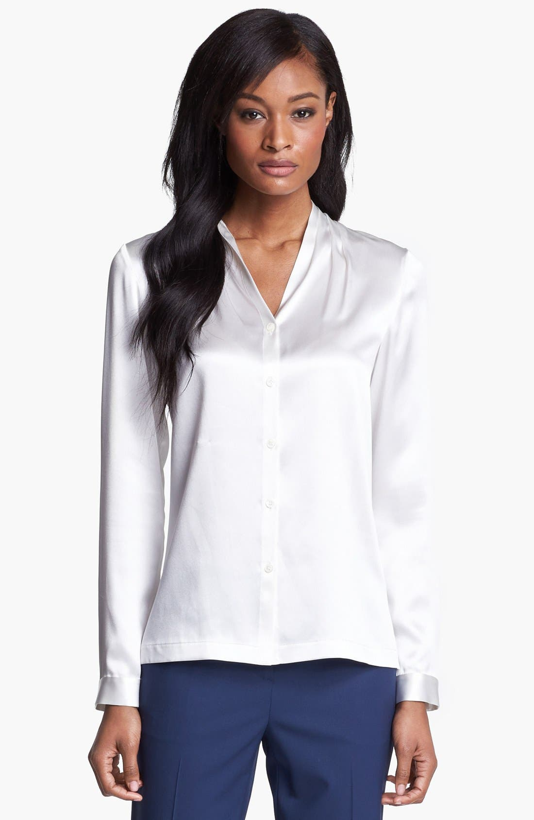 Main Image - Lafayette 148 New York 'Niely - Luxe Charmeuse' Silk Blouse