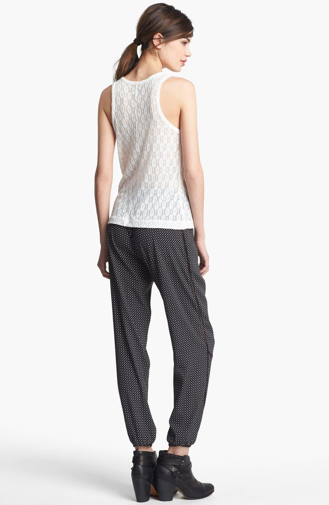 Alternate Image 3  - rag & bone 'Gina' Silk Track Pants