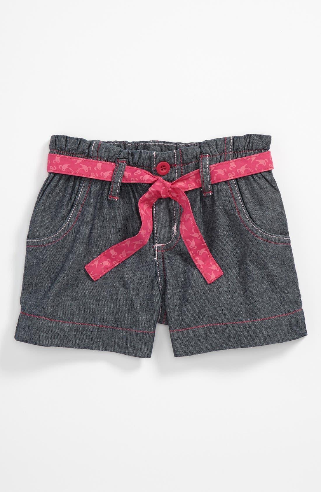 Alternate Image 1 Selected - Pumpkin Patch Denim Shorts (Toddler)