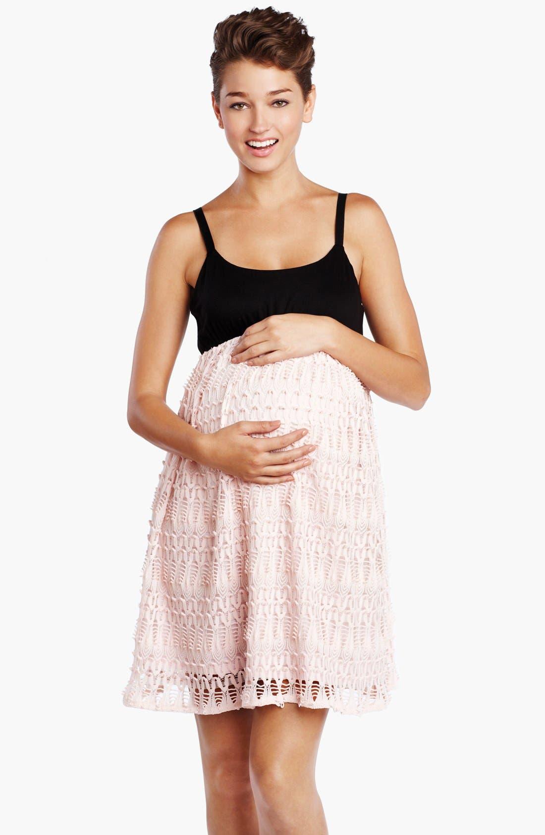 Main Image - Maternal America 'Ballerina' Maternity Dress