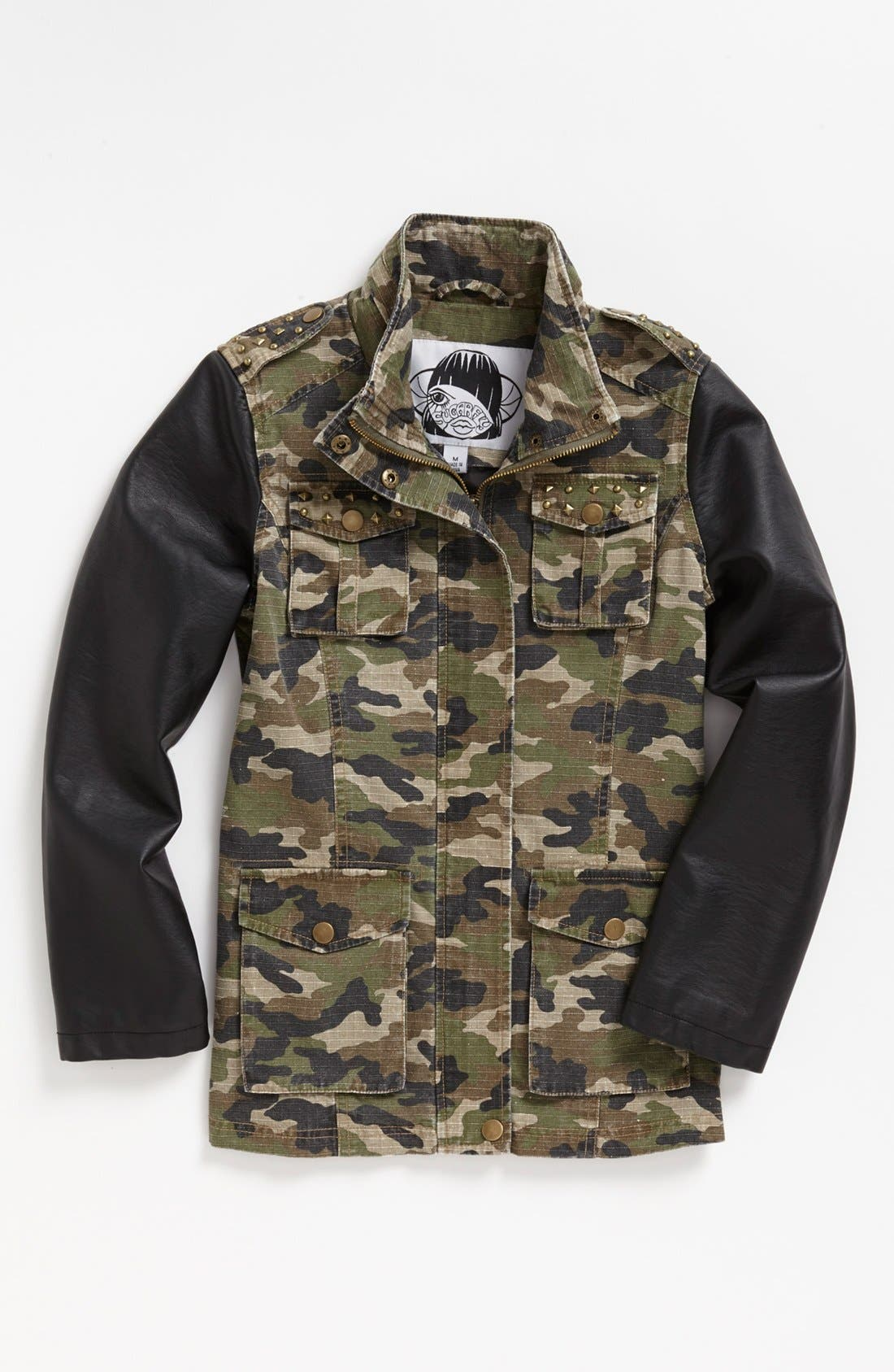 Alternate Image 1 Selected - Sugarfly Camo Jacket (Big Girls)