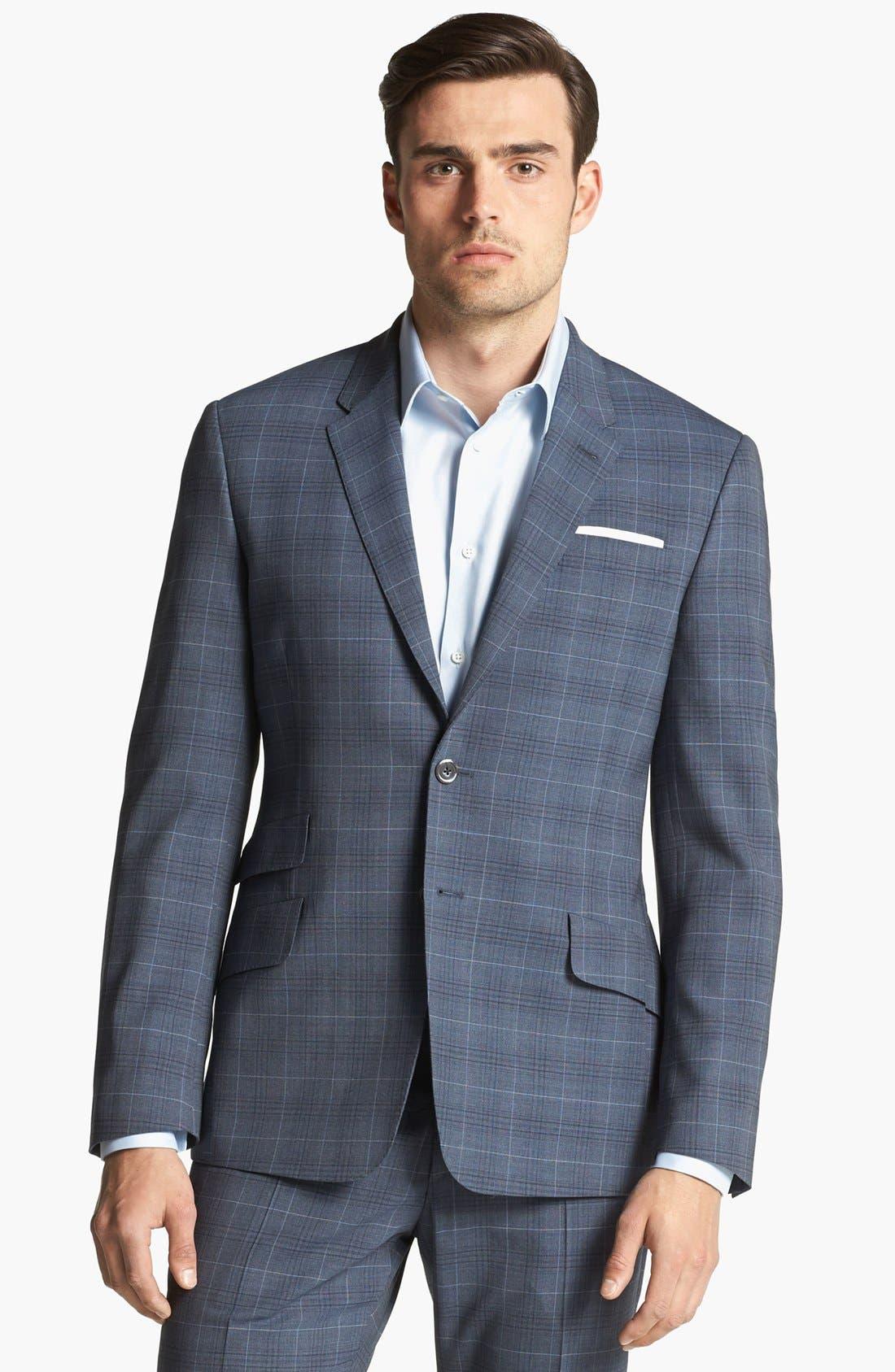 Alternate Image 1 Selected - Paul Smith London Wool Plaid Suit