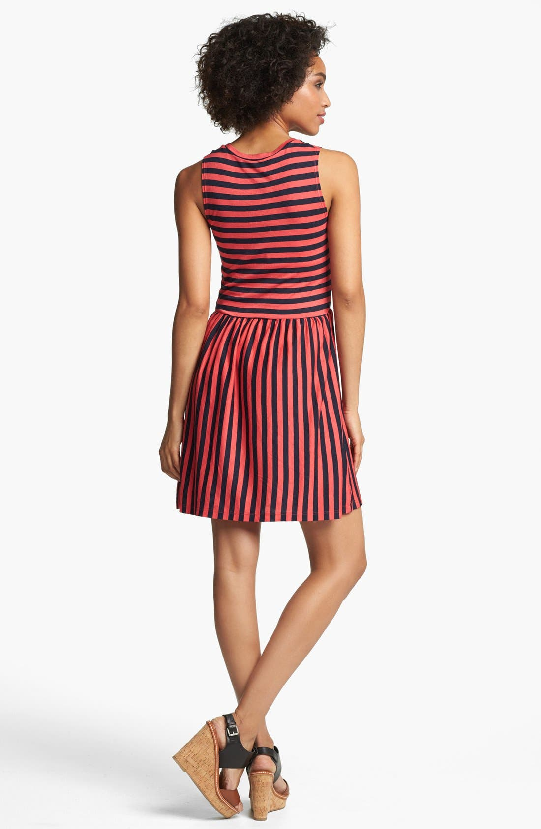 Alternate Image 2  - French Connection 'Martha' Stripe Fit & Flare Dress