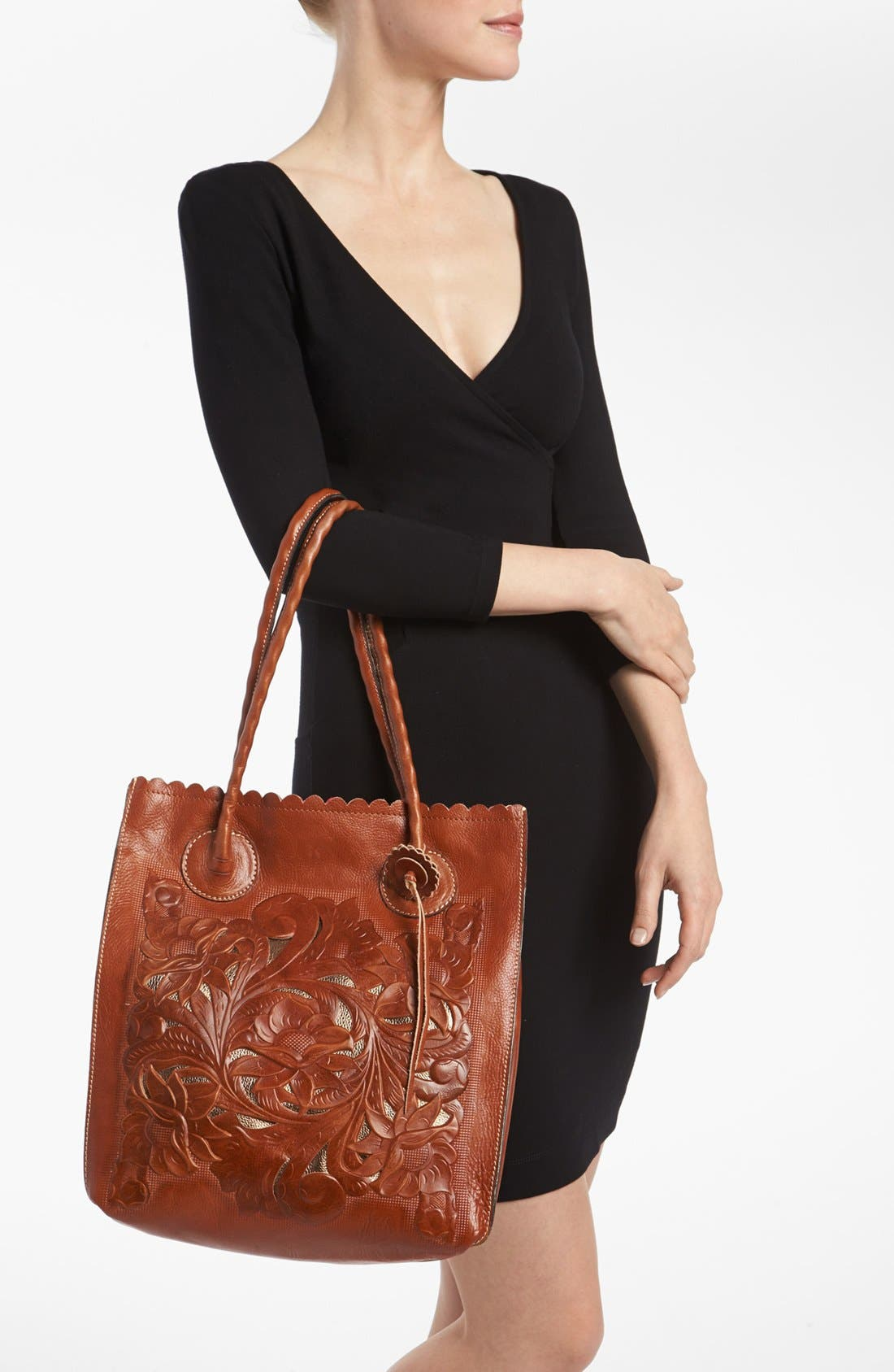 Alternate Image 3  - Patricia Nash 'Cavo' Tooled Leather Tote