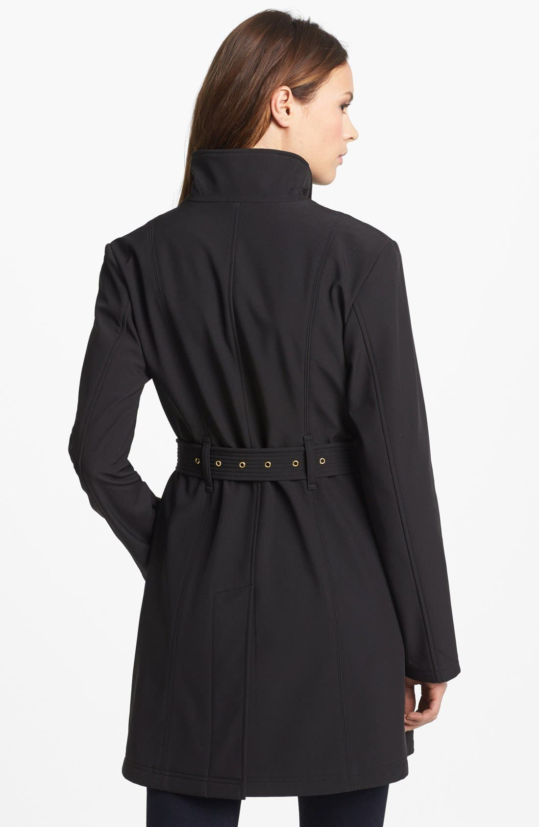 Alternate Image 2  - MICHAEL Michael Kors Asymmetrical Zip Soft Shell Jacket
