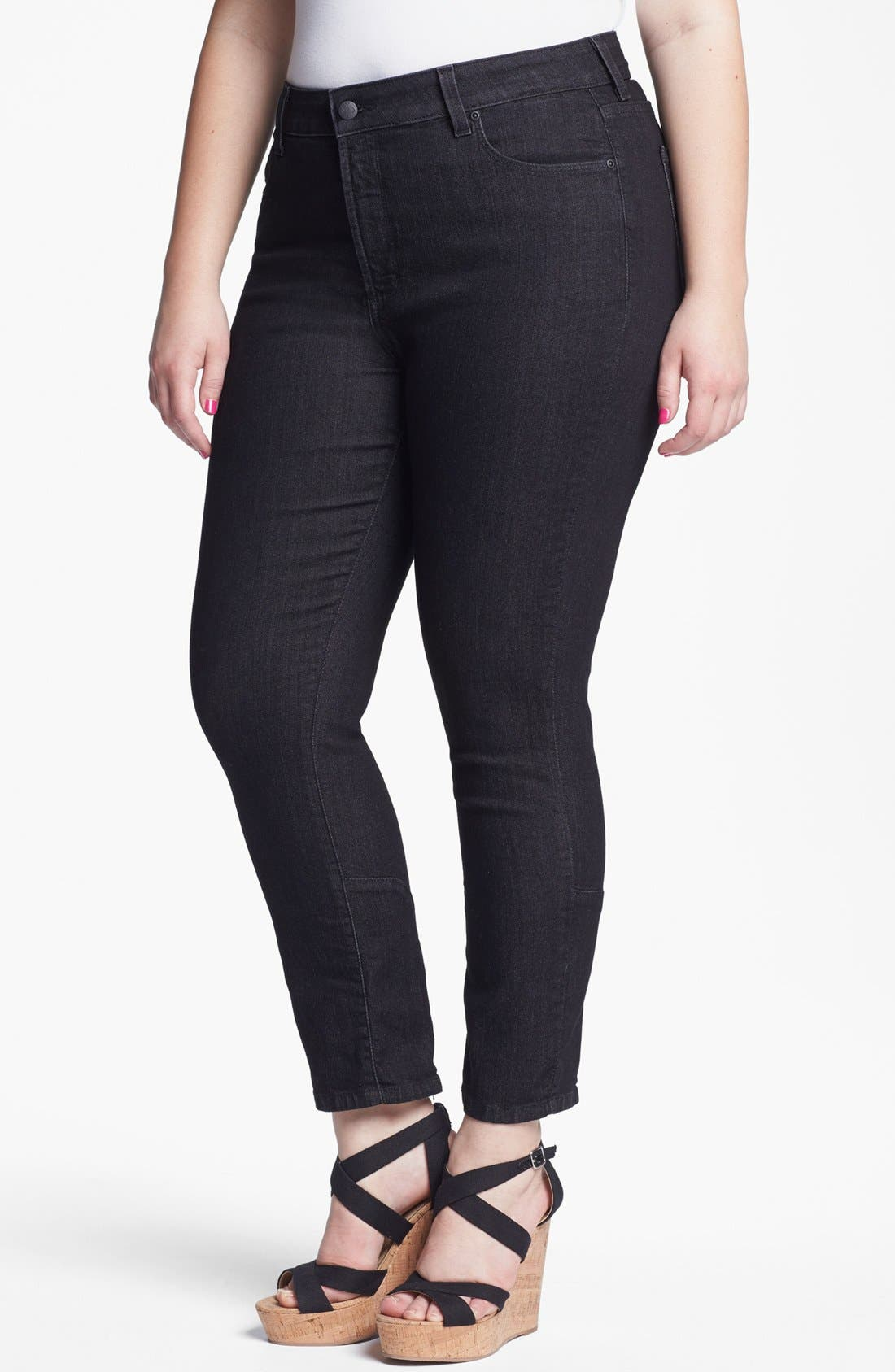 Alternate Image 1 Selected - NYDJ 'Jill' Fitted Ankle Jeans (Plus Size)