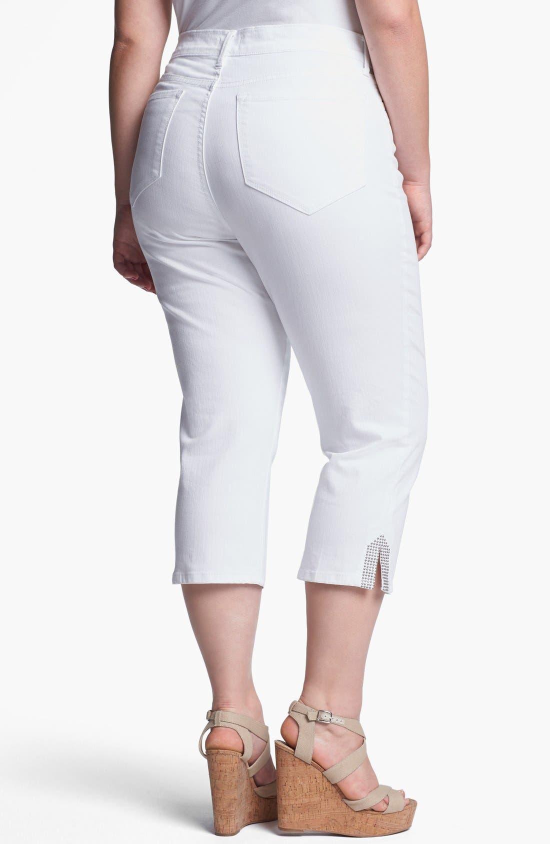 Alternate Image 2  - NYDJ 'Suzy' Crop Jeans (Plus Size)