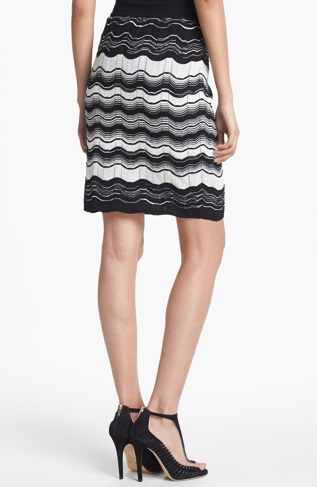 Alternate Image 2  - M Missoni Greek Key Stripe Skirt