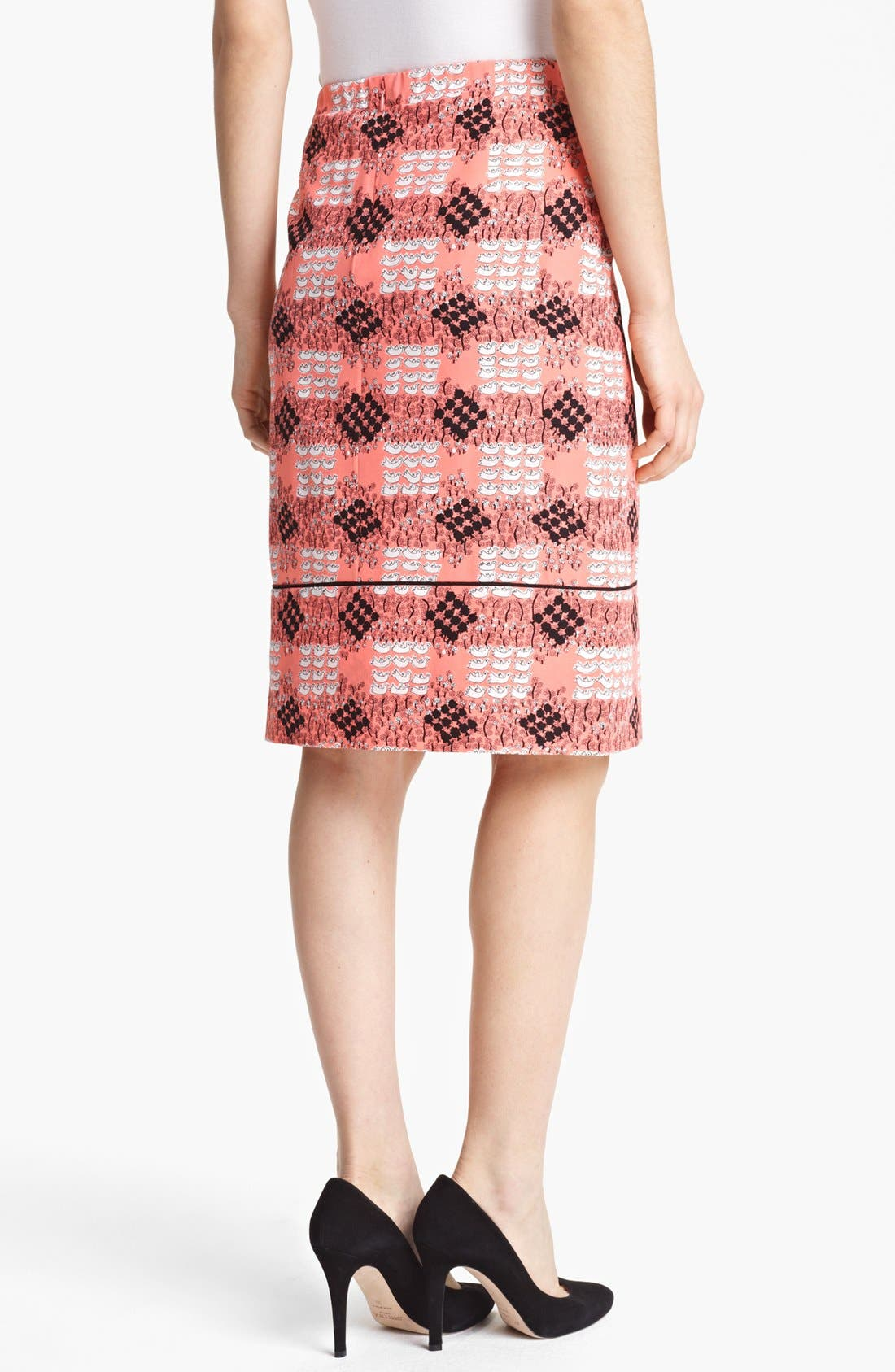 Alternate Image 2  - Marni Duck Print Silk Skirt
