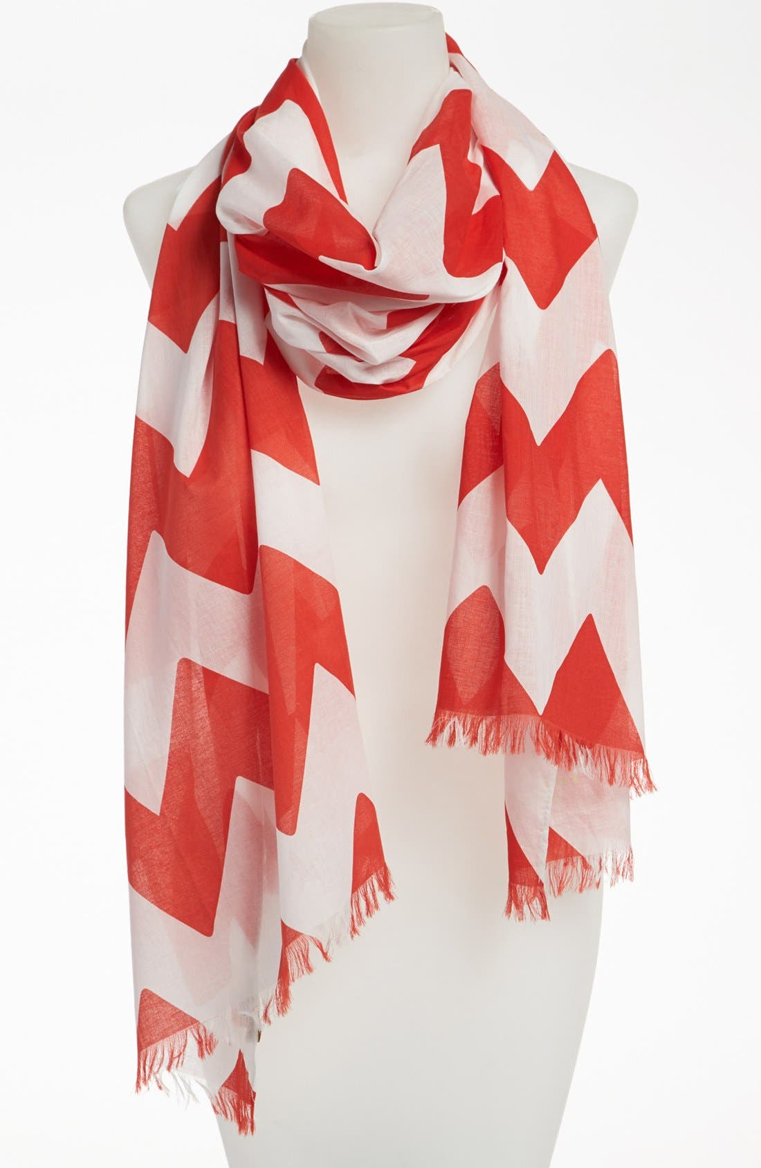 Alternate Image 1 Selected - kate spade new york 'chevron stripe' scarf
