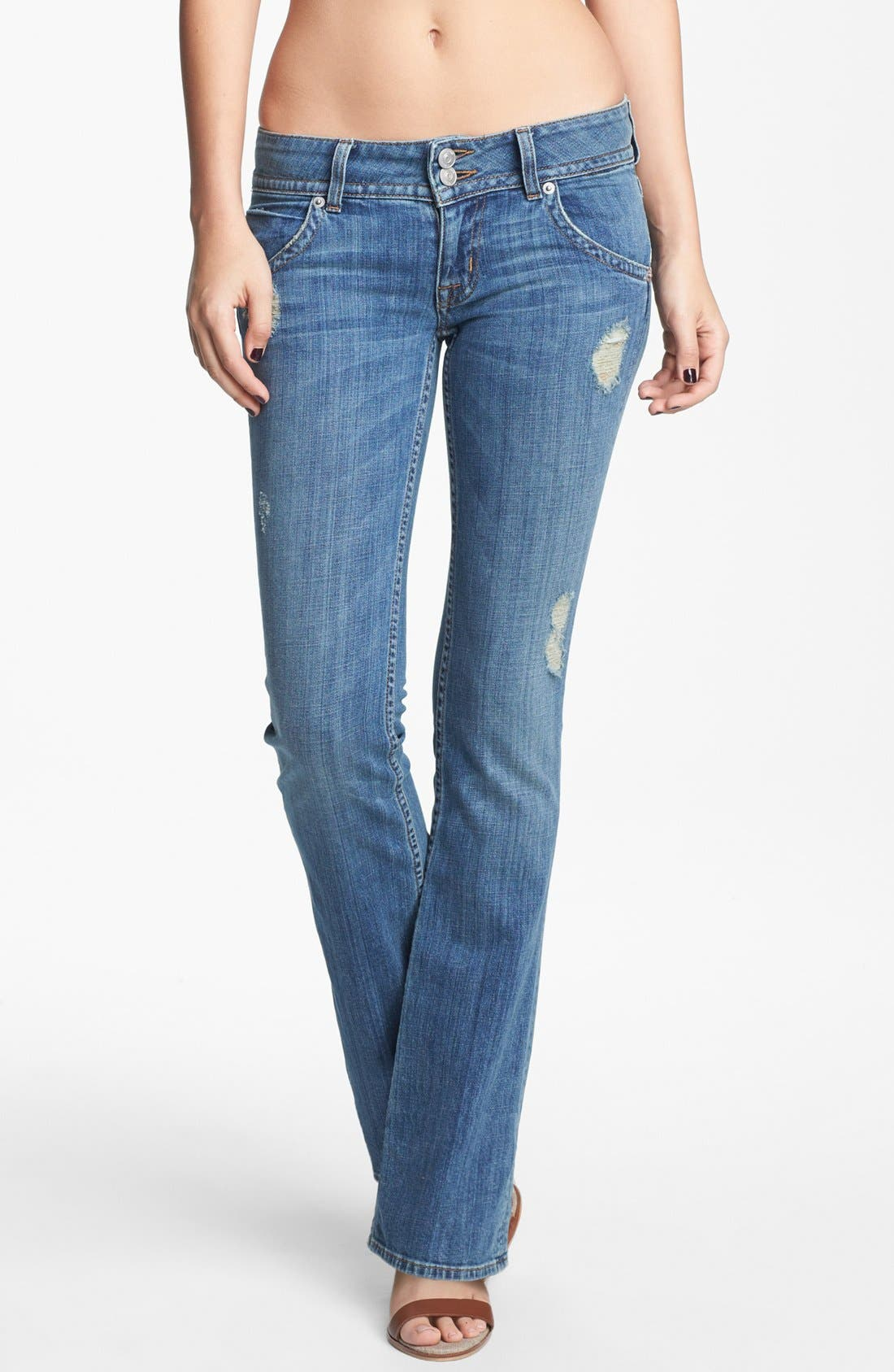 Alternate Image 1 Selected - Hudson Jeans Triangle Pocket Bootcut Stretch Jeans (Vintage Napoli) (Petite)