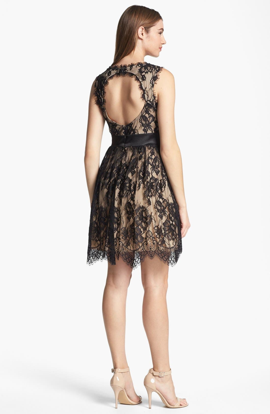 Alternate Image 2  - Betsy & Adam Embellished Lace Dress